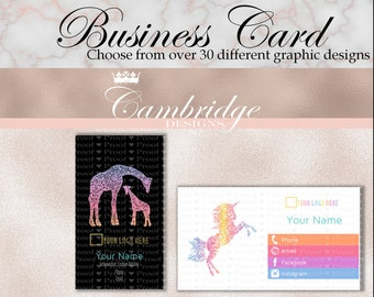 Black OR White Background Color Block Business Cards - Home Office Approved Fonts and Colors Business Card, Digital