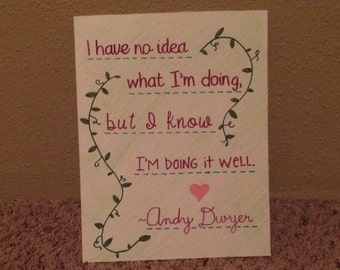 Andy Dwyer Quote Wall Art