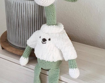 SWEATER OG GIRAF - Giraffen Kenneth, hækleopskrift + strikkeopskrift til sweater