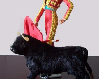 Vintage - folk art collectible doll - Corride ethnic dolls - decoration - collection - decorative 26 cm - 70s.