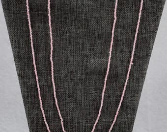 Pink Wrap Beaded Necklace