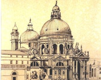 Pen and Ink of San Marco, Venice