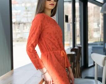 MODEST orange dress