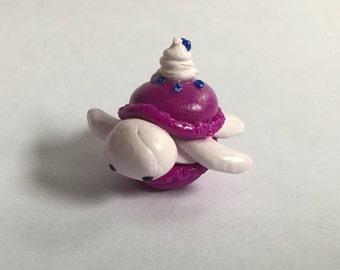 Purple Macaron Clay Turtle