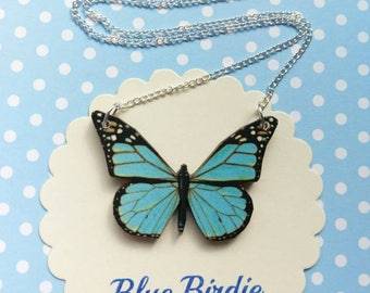 Butterfly necklace butterfly jewelry blue butterfly bib necklace butterfly jewellery butterfly gift blue butterfly necklace