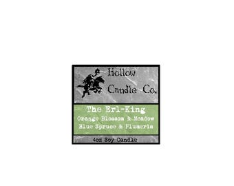 The Erl-King - Mystical Creature Inspired - Soy Wax - 4oz Candle