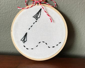 Paper Planes Hand Embroidery