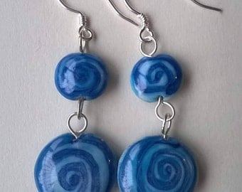 Ceramic and Silver 925 earrings