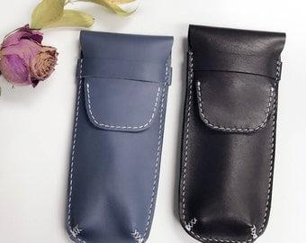 LEATHER PEN CASE, Leather pencil case, leather pencil pouch, leather pen holder, minimalist pencil case, leather pouch