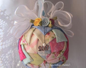 Quilted Christmas Ornament, Patchwork Quilt Style Ornament, Scrap Quilt Ornament, Star Ornament