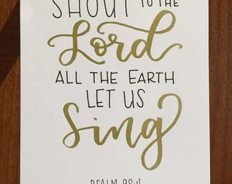 Shout to the Lord All the Earth Let Us Sing