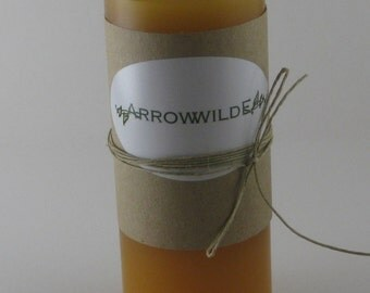 Smooth Amber Scented Pillar Candle