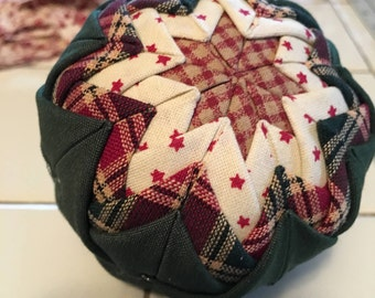 Hand Quilted Country Christmas Ornament