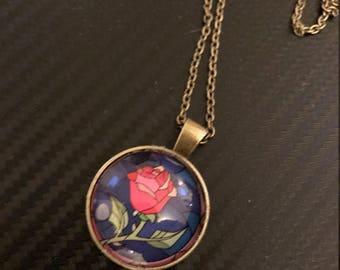 Enchanted Rose Pendant Necklace