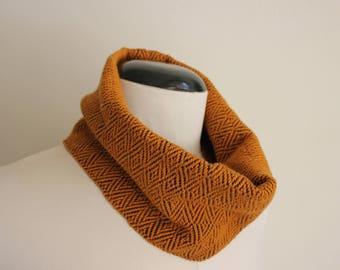 Mustard & Blue neck, hand woven, 100% merino wool