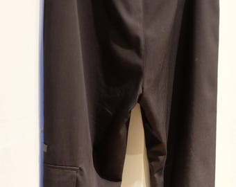 Cop.Copine Wide-Leg Black Capri Pants, Size 8