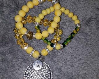 Lemon Lime Sprakle Brust Bracelets