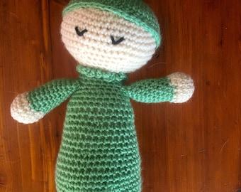 Green Crochet Sleepy BabyDoll