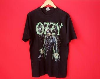 vintage Ozzy Osbourne heavy metal band music concert mens t shirt
