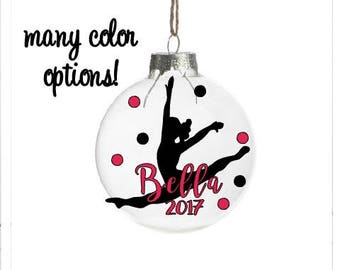 Personalized Dancer Ornament, Christmas Ornament for Dancer, Bulk Dance Team Gift, Dance Coach, Ballerina, Dance Team Ornament, Dance