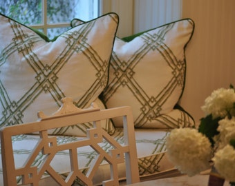 Brunschwig and Fils Embroidery Bamboo Trellis