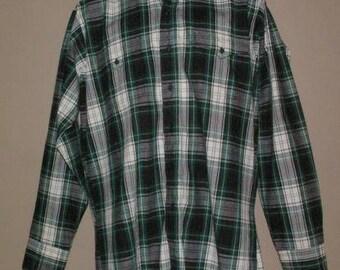 Vintage Mens Panhandle Slim Plaid WESTERN Shirt Size 16 - 35 Rockabilly