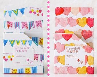 Washi Tape decorati: Cuori o Party - Scegli il tuo Preferito!