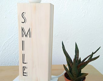 lampara madera smile-somriu