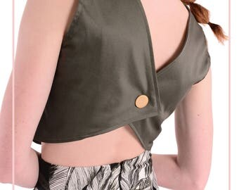 MILA - Olive Green Crop Top