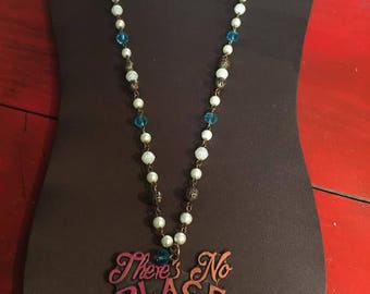 There's No PLACE like HOME necklace with pearl charm