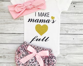 Baby Girl Outfits, Mommy's Girl, Baby Clothes, Baby Girl Clothes, Mommy and Me Outfits, Mommy's Girl, Newborn Girl Clothing, Newborn