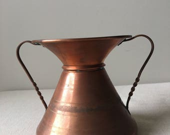 Vintage Copper Vase