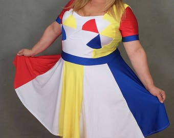 "MADE TO ORDER *Plus Size*  Katy Perry ""Beach Ball"" Inspired Dress with Sleeves"