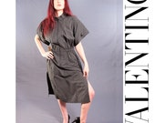 1980's VALENTINO Dress, DEADSTOCK 80s DESIGNER Dress, Size Medium, Vintage New with Tags