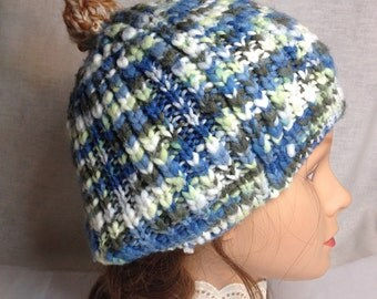GOURDHEAD Pumpkin Gourd Stem Knit Hats HANDMADE Upcycled Beanie Knitted Cap Fairie style Adult Size Hat Free Shipping in the USA!