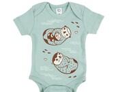 Otter Baby Gift - Otter BABY CLOTHING - otter gift, newborn gift, baby shower gift, Organic Onsie Baby onsie, organic baby clothes baby gift