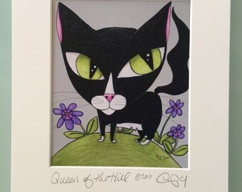 """Queen Of The Hill 8 X 10"""" Custom Matted Print"""