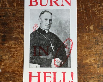 Burn in Hell - Letterpress Postcard