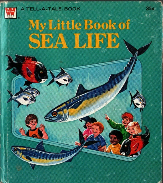 My Little Book of Sea Life a Whitman Tell-a-Tale Book - Lucille Michener - Rod Ruth - 1976 - Vintage Kids Book