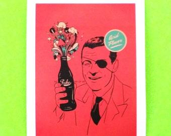 Fake Coca Cola Parody Coke Bottle Real Acid Flavour Retro Kitsch Vintage Advertising Style Spoof Vinyl Sticker
