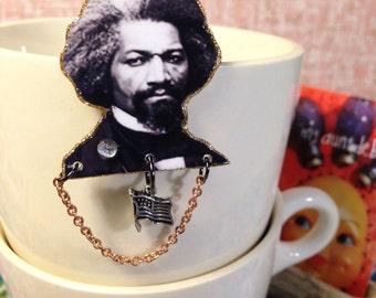 Frederick Douglass Brooch abolitionist civil rights activist slavery