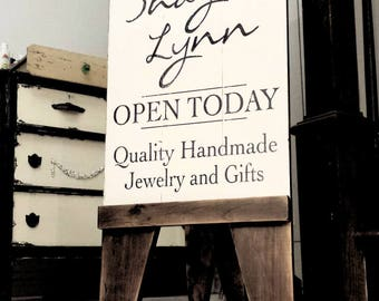 SANDWICH BOARD | Rustic A Frame Sign | Sandwich Sign | Custom Business Sign | Wooden Business Sign | Welcome Sign | Logo | Sidewalk Sign