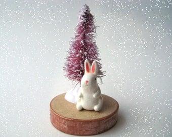 Tiny Winter Bunny Rabbit Decoration