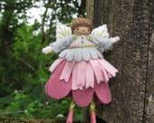 Woodland Flower Fairy Art Doll Miniature Ornament OOAK