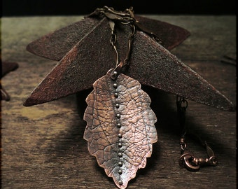 N1518 Copper Fall Leaf-Necklace