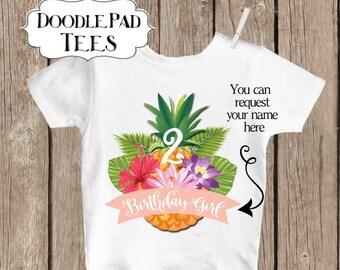 Luau Birthday Shirt, Personalized Hawaiian Birthday Shirt