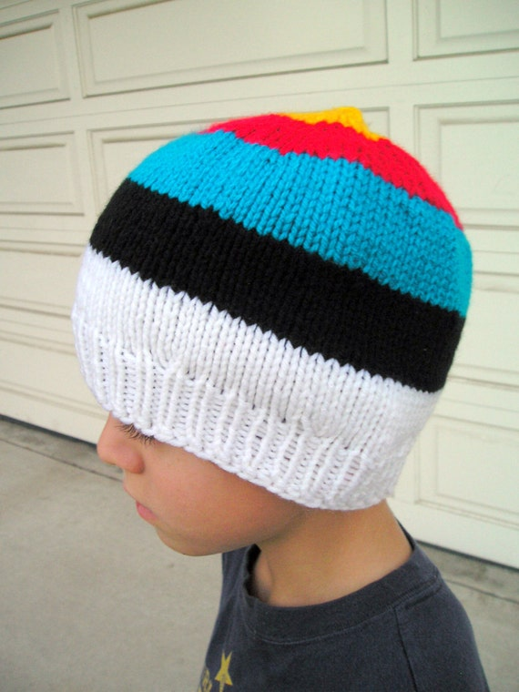 bullseye beanie knit archery target hat. Black Bedroom Furniture Sets. Home Design Ideas