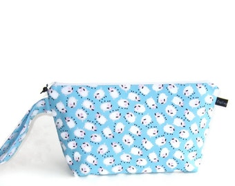 Wedge Bag, Small-Project Knitting Bag, Mini Farm and Friends Sheep