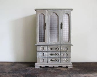 Jewelry Table Top Armoire Jewelry Box