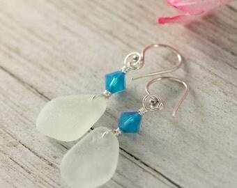 Sea glass earrings - Sea glass jewelry - Boho earrings - Boho style - Mothers day - Valentine - Boho fashion - Gift for mom  - Yellow